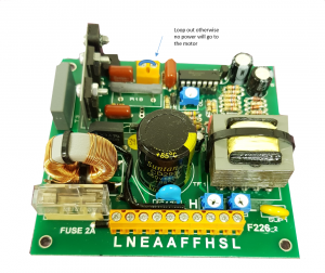 F226 Controller card showing loop connection